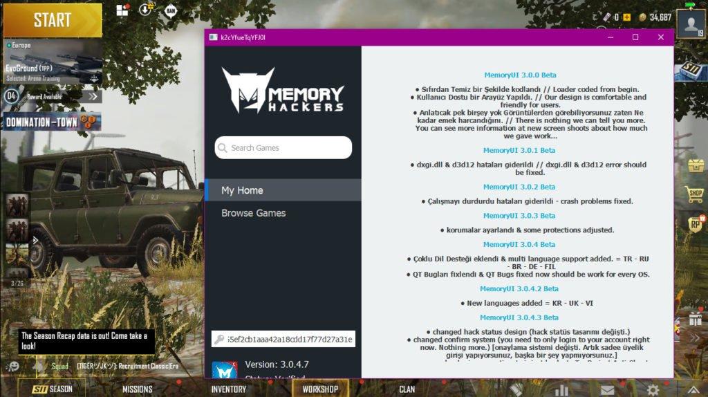 PUBG Hack Download Memory Loader For PC Emulator - Season 11